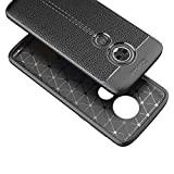 Coque Téléphone pour Motorola Moto E5 Plus Litchi Texture TPU Soft TPU TPU Coque arrière de...
