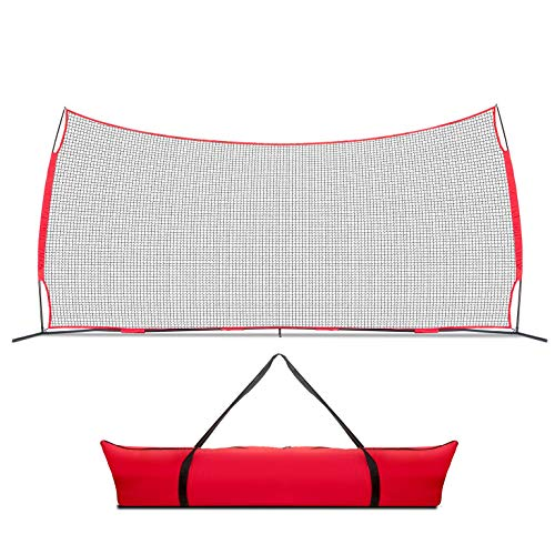 Lacrosse Scoop 20x10 Foot Sports Backstop, 200 Sq Feet of Protection Perfect for Lacrosse, Soccer,...