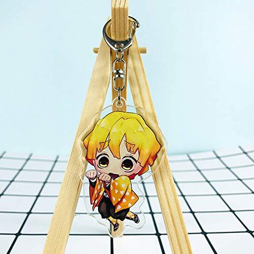 cluis Demon Slayer: Kimetsu no Yaiba llavero acrílico transparente llavero coleccionable llavero bolsa accesorio anime colgante anime anime fans regalo (estilo 25)