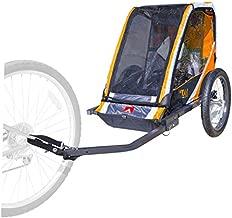 Allen Sports 1-Child Steel Bicycle Trailer- Orange, Model T1-O