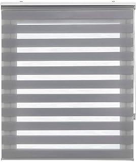 Estoralis Shae Estor Enrollable Doble Tejido, Noche y día, Gris, 145 x 175 cm