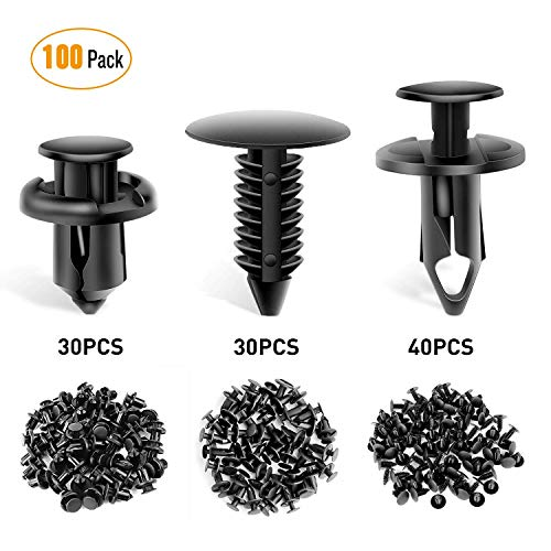 100PCS GOOACC Nylon Bumper Fastener Rivet Clips for GM 21030249 Ford N807389S Automotive Furniture Assembly Expansion Screws Kit Auto Body Clips 8mm