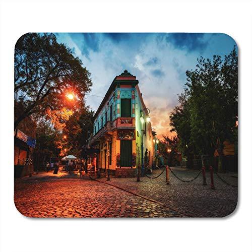 Mauspads Blaue Kultur Öffentlichkeit in La Boca Buenos Aires Argentinien Mauspad für Notebooks, Desktop-Computer Matten Büromaterial