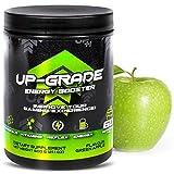 UP-GRADE - Gaming Booster , Energy Drink Pulver - Caffeina in Polvere per Una Maggiore Concentrazione Negli E-Sport - 600 g 60 Porzioni (Green Apple)