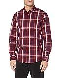 Pierre Cardin Langarm Hemd Camisa, Rojo, M para Hombre