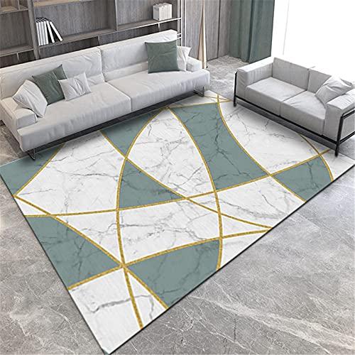 LBMTFFFF - Alfombra de estilo escandinavo, diseño simple mármol, diseño rectangular, alfombra de salón, 60 x 90 cm