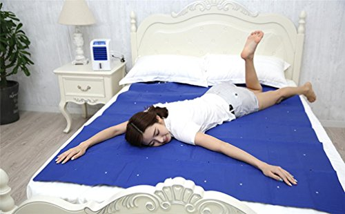 ELEGENCE-Z Double Air-Conditioning Mattress Summer Cooling Artifact Cool Ice Pad Dormitory Home (Blue)