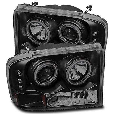 ZMAUTOPARTS Dual CCFL Halo LED Projector Headlights Black/Smoke For 1999-2004...