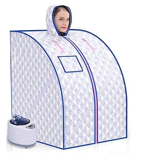 AY Faltbare Dampfsauna 2L Mobile Personal Therapeutische Sauna-Zelt for Heim for Gewichtsverlust mit Hut, Steamer, Fern Controlsilver