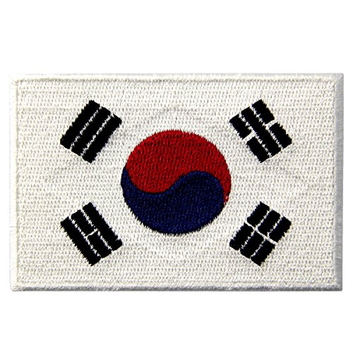 South Korea Flag Embroidered Korean National Emblem Iron On Sew On Patch
