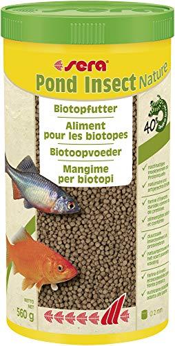 sera Pond Insect Nature (2mm) 1000ml EIN Biotopfutter BZW. Teichfutter oder Goldfischfutter aus nachhaltigem Insektenmehl als Proteinquelle - ohne Farb- und Konservierungsstoffe 32430
