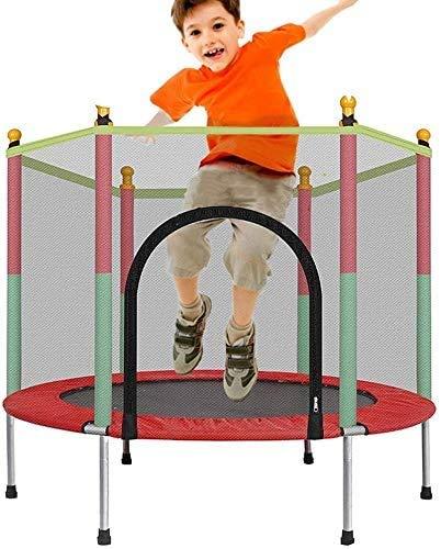 TFCFL Cama elástica infantil DIY 140 x 140 x 122 cm, cama elástica para exteriores con red de seguridad, cama elástica para adultos, cama elástica plegable, muro, capacidad de carga de hasta 200 kg