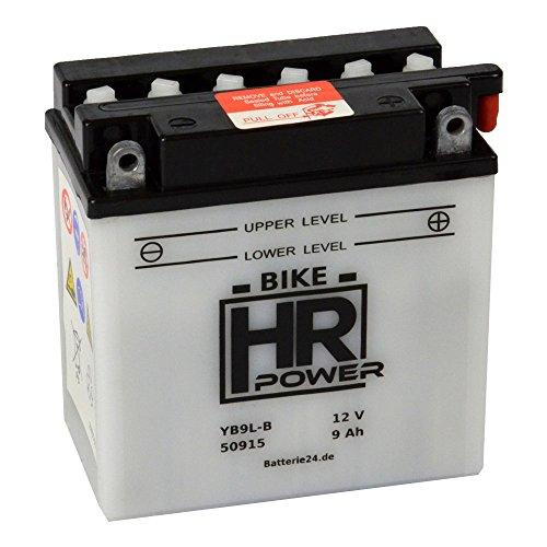 Motorrad Batterie Starterbatterie 12V 9Ah YB9L-B 50915