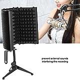 lahomie - microfono di filtro, scudo di isolamento del microfono, pannello di registrazione vocale con assorbimento del suono pieghevole per apparecchiature di registrazione