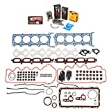 Evergreen Engine Rering Kit FSBRR8-21202 Compatible With 07-12 Ford F150 F250 Lincoln 5.4 TRITON 3 Valves Full Gasket Set, Standard Size Main Rod Bearings, Standard Size Piston Rings