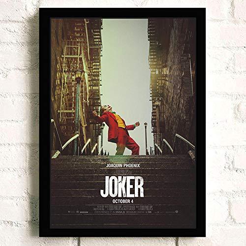 Flduod Joker 2019 Joaquin Phoenix Wärme Ledger Film Comics Wandkunst Malerei auf Leinwand Bar Zimmer Poster Bilder Wohnkultur-50x70cm