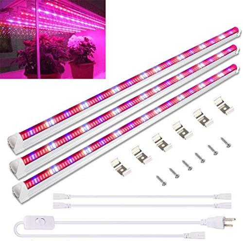 Derlights 45W 三本セット 植物育成ライト T8LED器具一体型直管蛍光灯 長さ90CM 448個LEDチープ フルスペク...