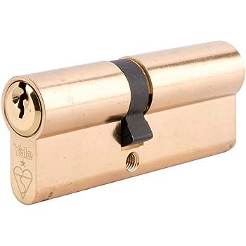 Polished Brass Yale 1 Star BKDHS NKDHS-YL1 35//45 Cylinder