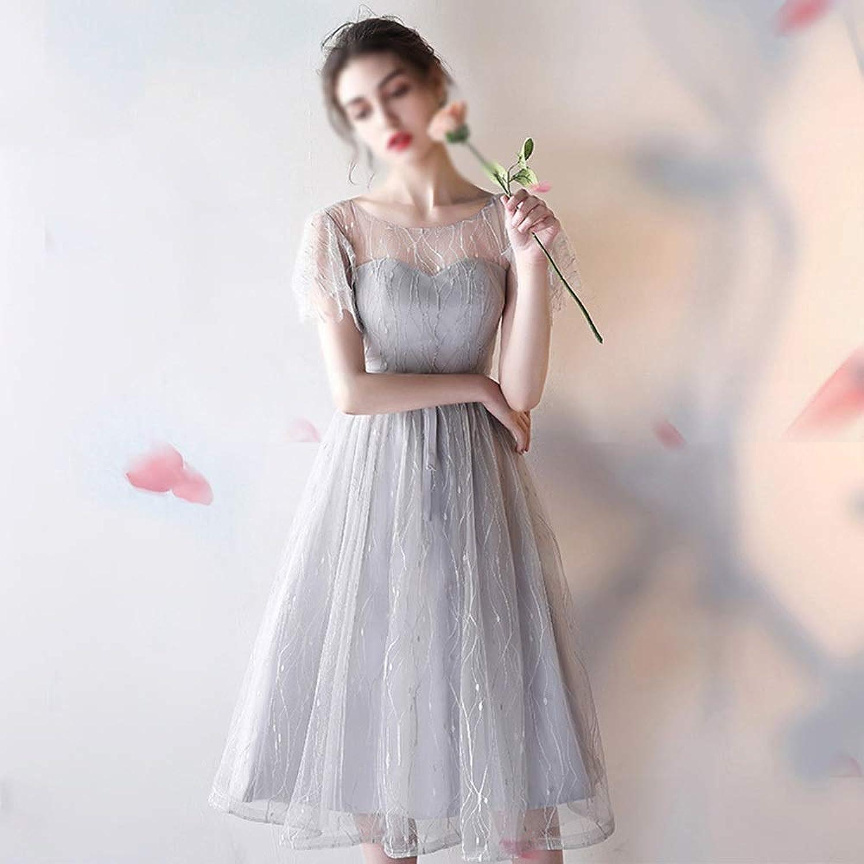 ProBikeUS Womens Sleeveless Mesh Sexy Aline Bridesmaid Dress Prom Gown Evening Dress