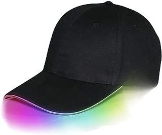Generic LED Baseball Kappe für Reise Schlichte Cap Herren-Baseballkappe, LED-beleuchtet, leuchtende Party-Mütze, LED-Taschenlampen Hüt