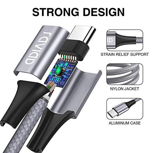 RAVIAD USB C Kabel, [4Pack 0.3M 1M 2M 3M] USB C Ladekabel und Datenkabel USB Typ C Kabel für Samsung Galaxy S10 S9 S8 S20 Plus A51, Huawei P40 P30 P20, Xiaomi, OnePlus, HTC, LG, Sony usw.- Grau