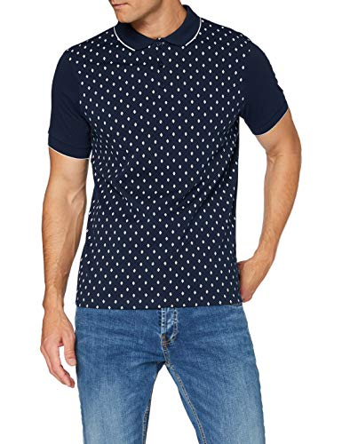 Merc of London Herren Ball Polo Hemd, Navy, M