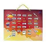 Supremery - Agenda settimanale magnetica, 43 x 30 cm, con 115 calamite e penna, per bambini, personalizzabile, calendario familiare