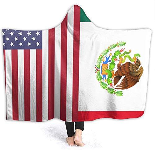 Manta con Capucha de la Bandera de México Americano 50