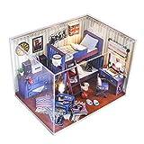 Modelo de casa de muñecas en Miniatura para Bricolaje, casa de Barbie, casa de muñecas portátil, 2 Pisos con Muebles, Accesorios y Funda Protectora, para niños de 3 a 7 años