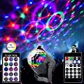 Disco Lights Ball with 15 Modes Stage Lights with Remote, Sound Activated Colorful Crystal Magic Ball for Christmas Birthday Family Party