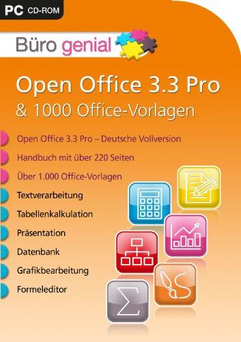 Büro genial Open Office 3.3 Pro & 1.000 Office Vorlagen [import allemand]