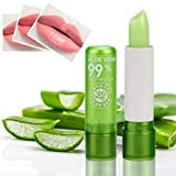 Aloe Vera Lipsticks,Fashion Long Lasting Moisturizing Lipstick Aloe Vera Lip Gloss Color Mood Change Long Lasting Nutritious Lip Balm Lips Moisturizer