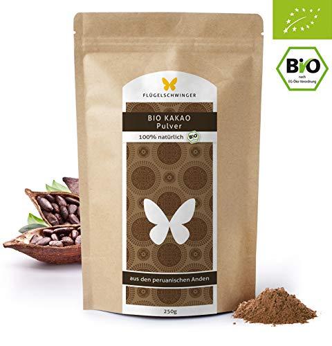 250g BIO-Kakao-Pulver, DE-ÖKO-012, Rohkostqualität, ohne Zusätze, aus biologischem Anbau, 100% Kakao aus den peruanischen Anden, stark entölt, 11% Fett (250g)