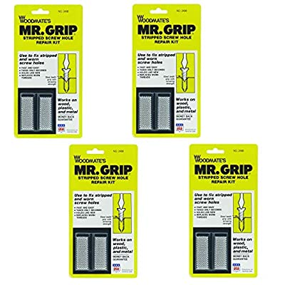 Woodmate 2498 Mr. Grip Screw Hole Repair Kit,Steel,Pack of 4