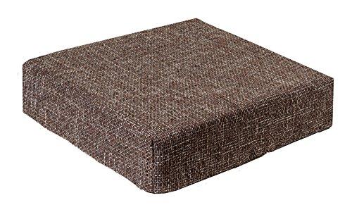 Trend Kissen Sitzblock Bodenkissen Stuhlkissen Sitzerhöung orthopädisch 40x40x10 cm Braun