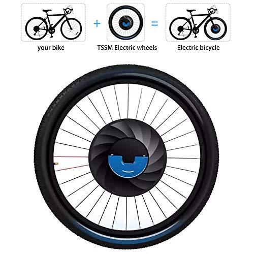 """TSSM Rueda Delantera Kit de conversión, 26 Pulgadas Bicicleta eléctrica Kit de conversión con MT1.5 MT1.75 MT1.95 Ancho del neumático de 20"""" 24"""" 26"""" 27.5"""" 29"""" 700C, 3 Min Modificación,20"""",MT1.75"""