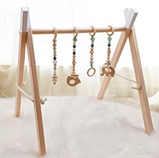wood baby activity gym