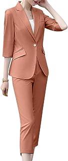 Abetteric Women Wear to Work 3 Pieces Suits Blazer Tux Vest /& Tenths Pants