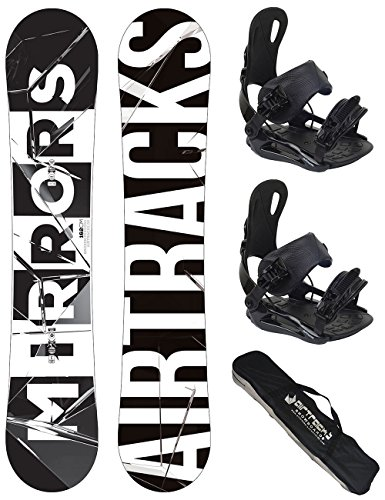 Airtracks Snowboard Set - Board Mirrors 159 - Softbindung Star L - SB Bag