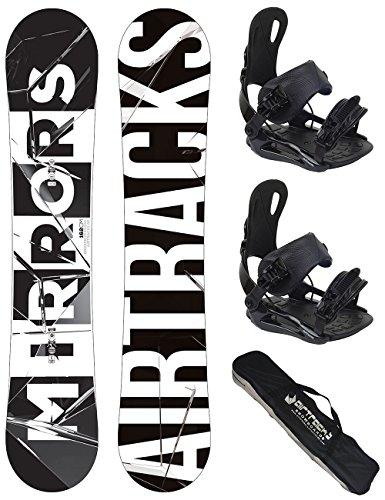 Airtracks Snowboard Set - Board Mirrors 159 - Softbindung Master L - SB Bag
