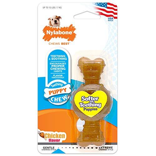 Nylabone Puppy Chew Ring Bone Chicken X-Small/Petite (1 Count)