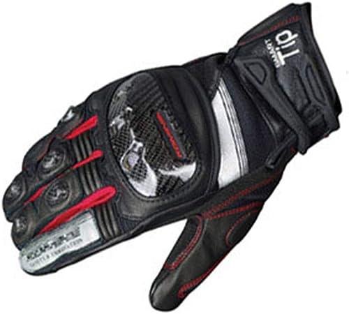 Kamiwwso Escalade Randonnée Gants De Moto en Fiber De voiturebone, Chasse Pêche Racing Knight Gants pour Sports De Plein Air (Couleur   rouge, Taille   XXL)
