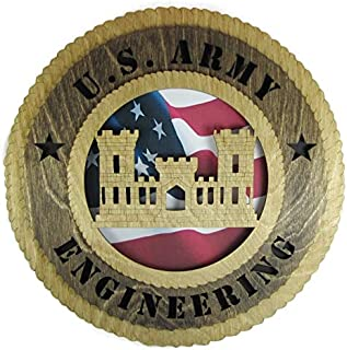 Orange Kat Army Corps of Engineers Plaque with American Flag