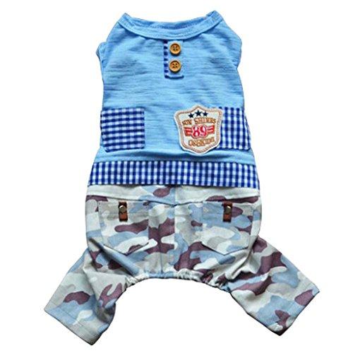 Vêtements pour animaux domestiques Chiens Vêtements Dress Suit Bleu Camouflage,S