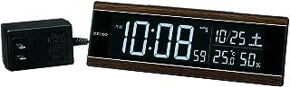 セイコークロック 置き時計 03:茶木目 本体サイズ: 7.3×22.2×4.4cm 電波 デジタル 交流式 カラー液晶 シリーズC3 DL306B