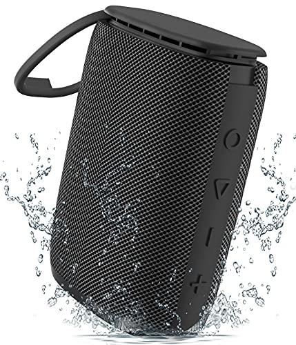 Altavoz Bluetooth Impermeable IPX7, Sewowibo Altavoces Portátil Inalámbrico Bluetooth 5.0 con Sonido Estéreo HD Rich Bass, Carga USB-C, Support TF Card 15H Tiempo de Juego por Casa, Piscina, Playa