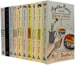 Agatha Raisin Series Collection M. C. Beaton 10 Books Set 1 to 10 Pack (Quiche of Death, Vicious Vet, Potted Gardner, Walkers of Dembley, Terrible Tourist, Wellspring of Death, Wizard of Evesham, Witch of Wyckhadden, Fairies of Fryfam, Busy Body)