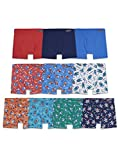 Fruit of the Loom Toddler Boys' Boxer Briefs (Assorted), Cotton-10 Pack-Covered Waistband, 4T/5T