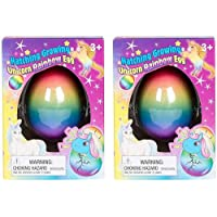 Set of 2 Surprise Growing Unicorn Hatching Rainbow Egg Kids Toys
