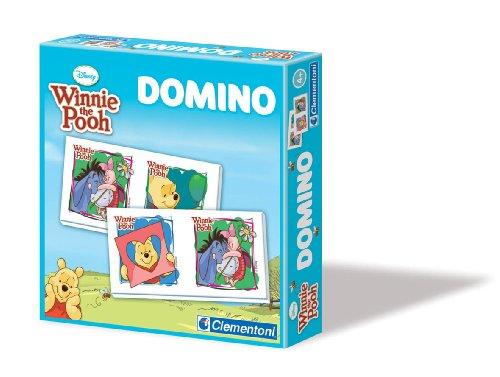 Clementoni–12827.3–Spiele Bildungs und wissenschaftlichen Domino–Winnie